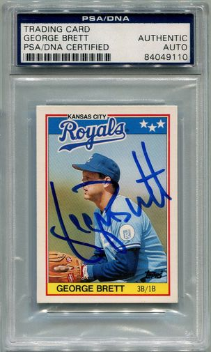 George Brett PSA/DNA Certified Authentic Autograph - 1988 Topps Mini