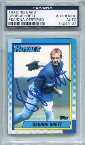 George Brett PSA/DNA Certified Authentic Autograph - 1990 Topps