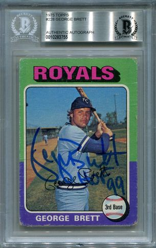 George Brett Rookie BGS Certified Authentic Autograph - 1975 Topps