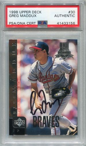 Greg Maddux PSA/DNA Certified Authentic Autograph - 1998 Upper Deck