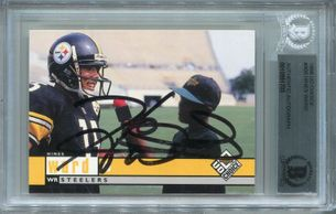 Hines Ward Rookie BGS Certified Authentic Autograph - 1998 Upper Deck Choice #400