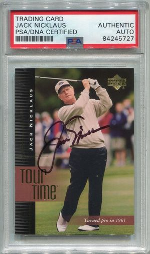 Jack Nicklaus PSA/DNA Certified Authentic Autograph - 2001 Upper Deck (5727)