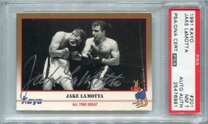 Jake La Motta PSA/DNA Certified Authentic Autograph - 1991 Kayo #201