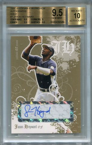 Jason Heyward BGS Certified Authentic Autograph - 2007 Just Rookies Justifiable Gold #7