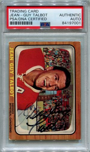 Jean-Guy Talbot PSA/DNA Certified Authentic Autograph - 1966 Topps