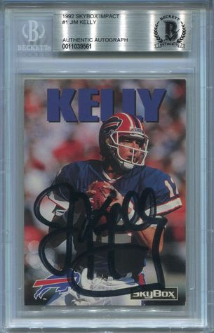 Jim Kelly BGS Certified Authentic Autograph - 1992 Skybox Impact Prototype