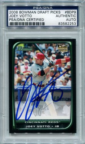 Joey Votto Rookie PSA/DNA Certified Authentic Autograph - 2008 Bowman Draft Prospects #BDP9