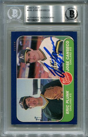 Jose Canseco Rookie BGS Certified Authentic Autograph - 1986 Fleer (2311)