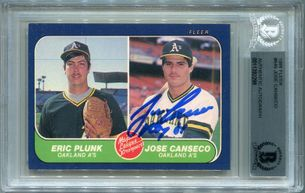 Jose Canseco Rookie BGS Certified Authentic Autograph - 1986 Fleer