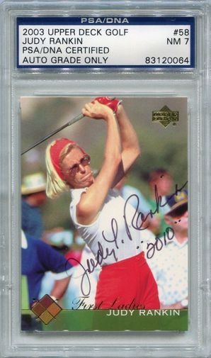 Judy Rankin PSA/DNA Certified Authentic Autograph - 2003 Upper Deck