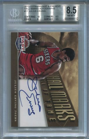 Julius Erving BGS Certified Authentic Autograph - 2012 Panini Past & Present