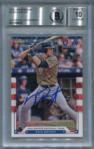 Kris Bryant BGS Certified Authentic Autograph - 2012 Panini USA Baseball