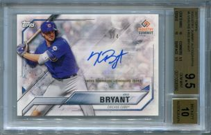 Kris Bryant BGS Certified Authentic Autograph - 2017 Topps Industry Summit