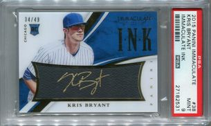 Kris Bryant Rookie PSA/DNA Certified Authentic Autograph - 2015 Panini Immaculate Ink #34/49