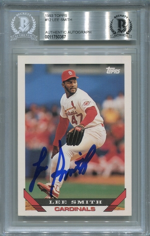 Lee Smith BGS Certified Authentic Autograph - 1993 Topps