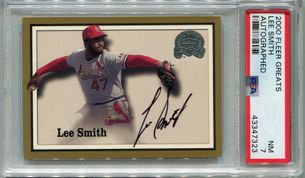 Lee Smith PSA/DNA Certified Authentic Autograph - 2000 Fleer Greats