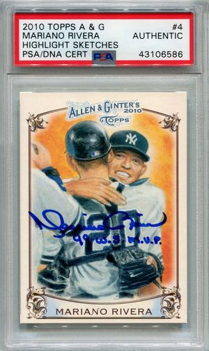 Mariano Rivera PSA/DNA Certified Authentic Autograph - 2010 Topps Allen & Ginter's