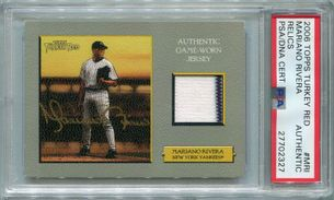 Mariano Rivera PSA/DNA Certified Authentic Autograph - 2006 Topps Turkey Red Relics