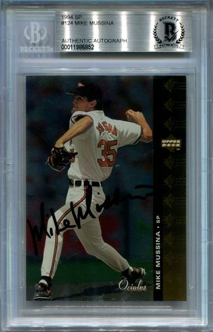 Mike Mussina BGS Certified Authentic Autograph - 1994 Upper Deck SP