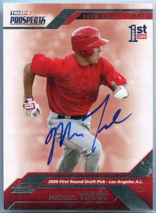 Mike Trout Rookie JSA Certified Authentic Autograph - 2009 TRISTAR Prospects Plus