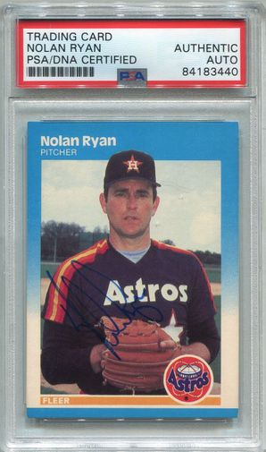 Nolan Ryan PSA/DNA Certified Authentic Autograph - 1987 Fleer