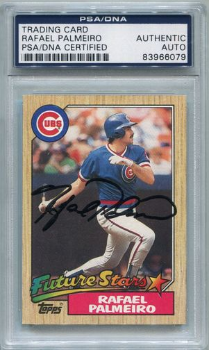Rafael Palmeiro Rookie PSA/DNA Certified Authentic Autograph - 1987 Topps