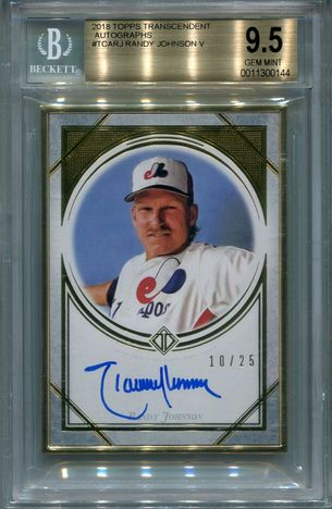 Randy Johnson BGS Certified Authentic Autograph - 2018 Topps Transcendent