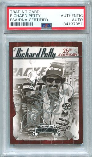 Richard Petty PSA/DNA Certified Authentic Autograph - 2009 Press Pass Legends #68