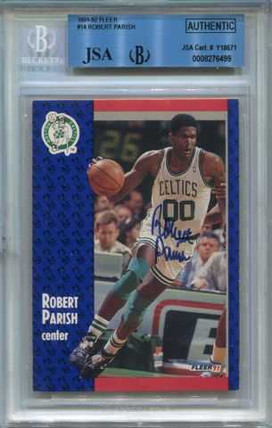 Robert Parish (HOF) BGS Certified Authentic Autograph - 1991 Fleer