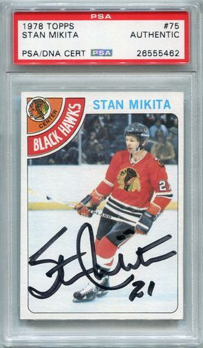 Stan Mikita PSA/DNA Certified Authentic Autograph - 1978 Topps
