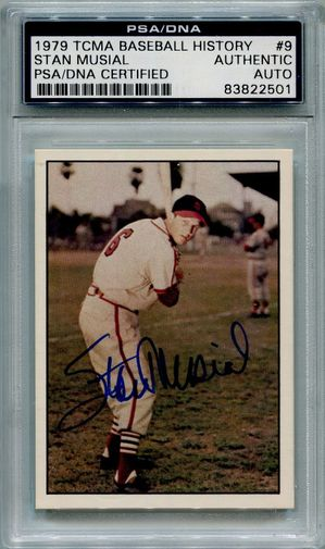 Stan Musial PSA/DNA Certified Authentic Autograph - 1979 TCMA