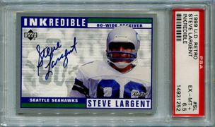 Steve Largent PSA/DNA Certified Authentic Autograph - 1999 Upper Deck Retro