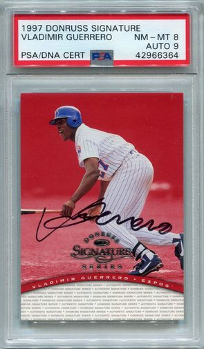 Vladimir Guerrero PSA/DNA Certified Authentic Autograph - 1997 Donruss Signature Series