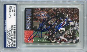 Walter Payton Chicago Bears PSA/DNA Certified Authentic Autograph - 1995 Calling Card