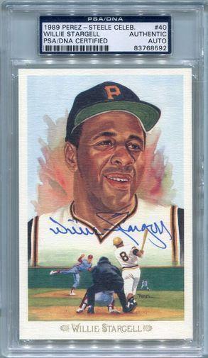 Willie Stargell PSA/DNA Certified Authentic Autograph - Perez-Steele Celebration Postcard