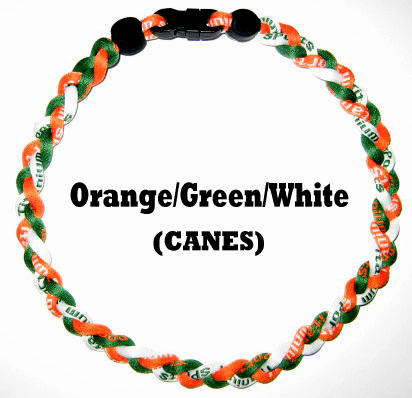 Baseball Sports Ion Necklace (Green/Org/Wht)