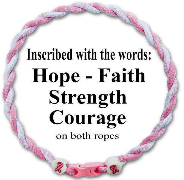Breast Cancer Awareness Ionic Sports Twister Necklace