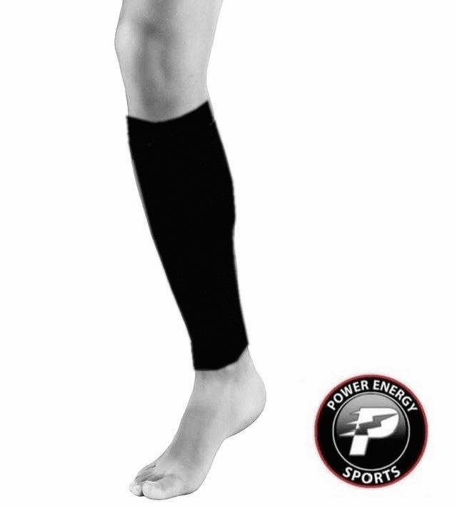 Calf Running Compression Sleeves 2pc Set (Pair) Black for Men and Women