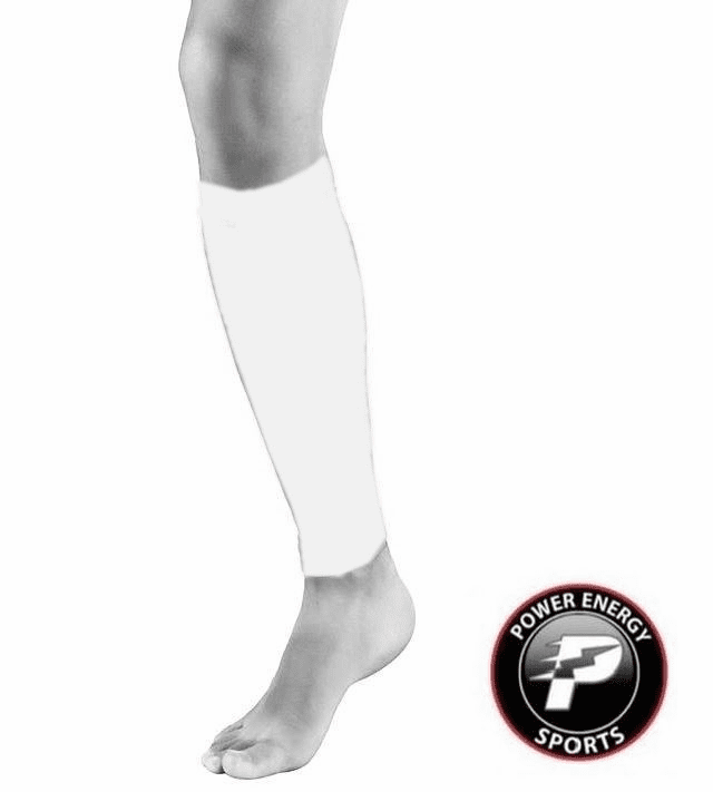 Calf Running Compression Sleeves 2pc Set (Pair) White for Men and Women