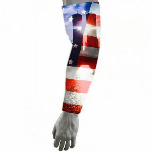 Compression Arm Sleeve USA 911 Never Forget Twin Towers
