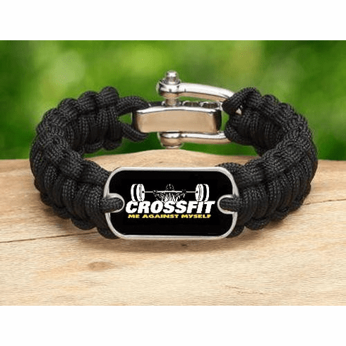 Cross-Fit Crossfit Weight Lifting Training Paracord Survival Bracelet