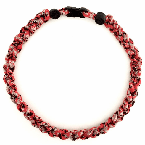 Digital Camo Tornado Titanium Baseball Necklace - Red