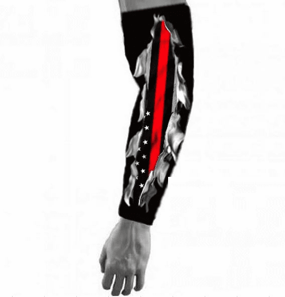 """Firefighter Compression Arm Sleeve """"I Bleed The Thin Red Line"""""""
