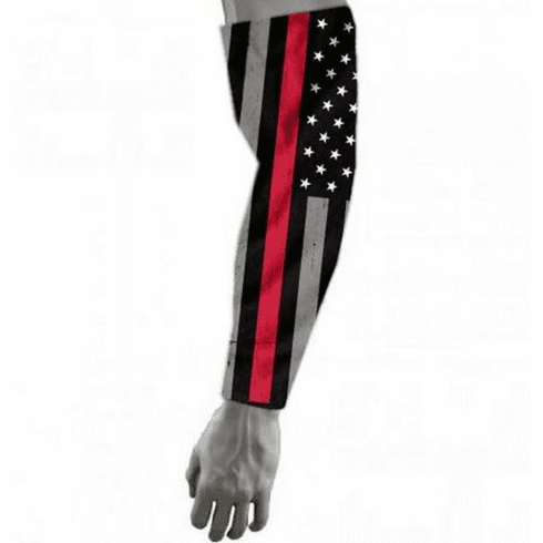 Firefighter Thin Red Line Sports Compression Arm Sleeve