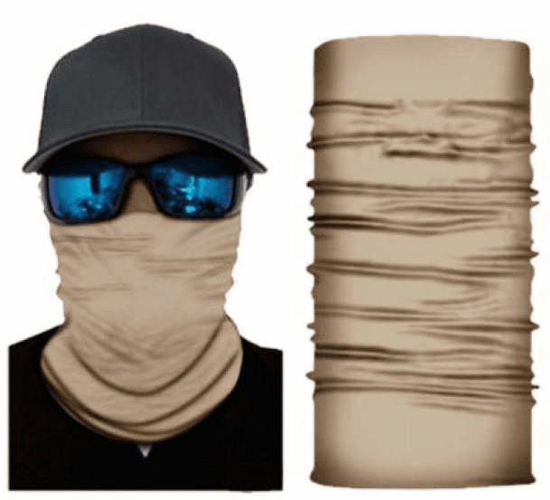Fishing Shield Cloth Protective Neck Gaiter Face Mask Beige