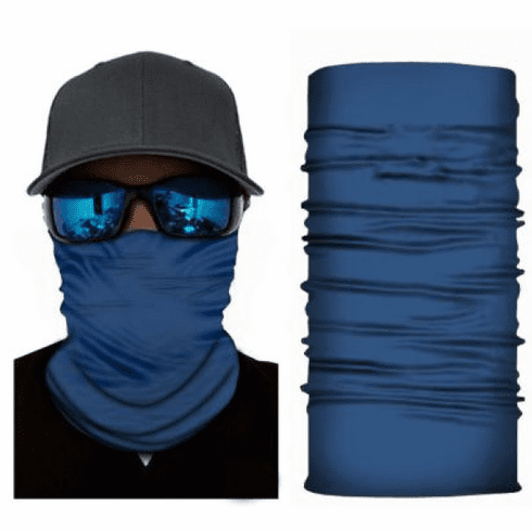 Fishing Shield Cloth Protective Neck Gaiter Face Mask Blue