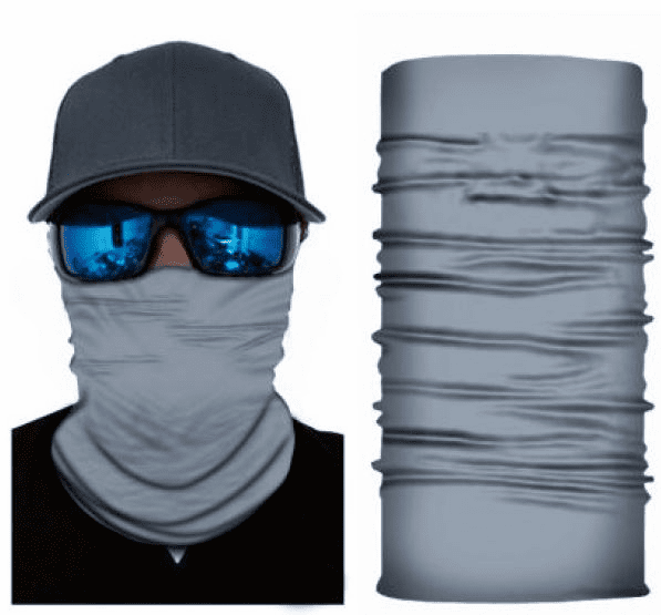 Fishing Shield Cloth Protective Neck Gaiter Face Mask Gray