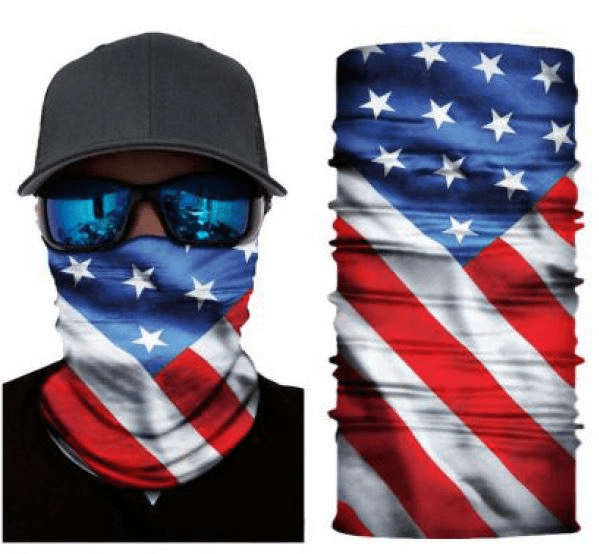 Fishing Shield Cloth Protective Neck Gaiter Face Mask USA American Flag