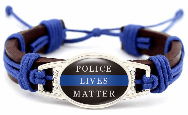"Have one to sell? Sell now Details about  Police Lives Matter Thin Blue Line Brown Leather Cord Bracelet 7.5"" 8.5"" Unisex"