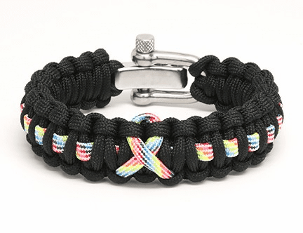 Paracord Bracelet Adjustable Metal Bracelet (Autism Awareness)